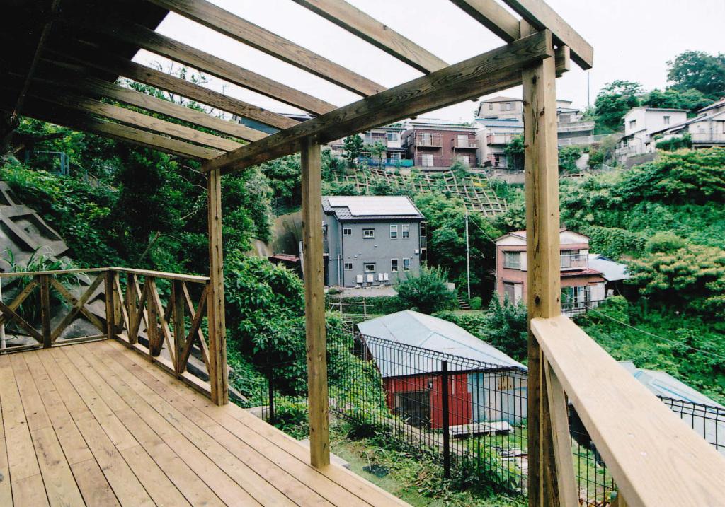 神奈川県横須賀市Y様邸 眺望が良い高台のパーゴラバルコニー
