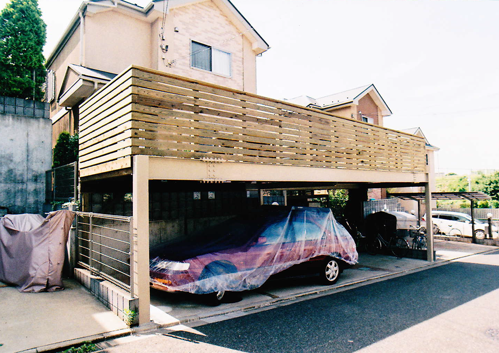 千葉県習志野市M様邸 広い車庫上デッキで寛ぎスペースを確保