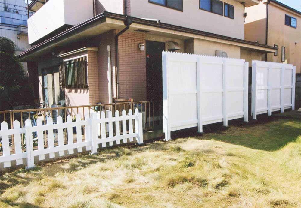 東京都中野区K様邸 アメリカンタイプのウッドフェンス。