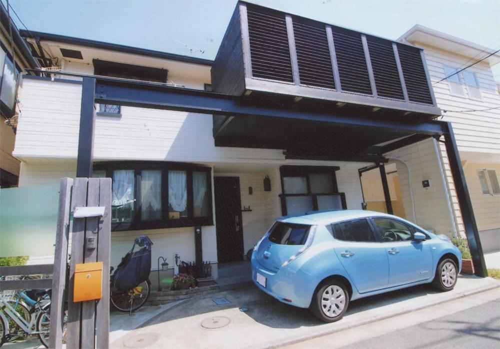 神奈川県茅ヶ崎市O様邸 ルーバーフェンスと横桟フェンスでプライバシーも守ります。