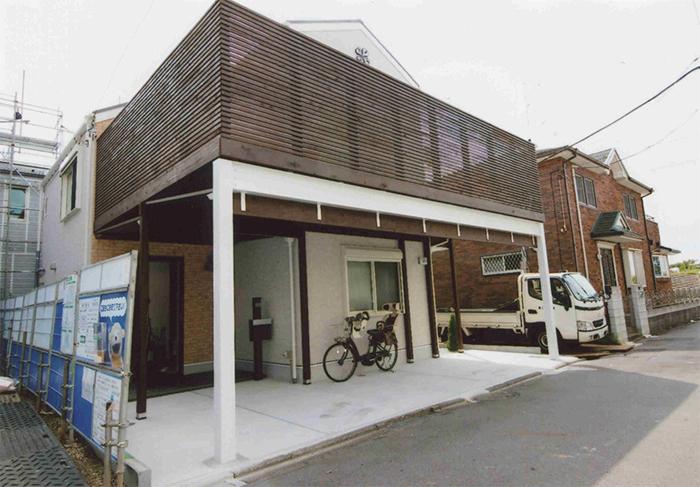 東京都大田区 M様邸 重量鉄骨を使用したスペース有効活用のカーポートデッキ