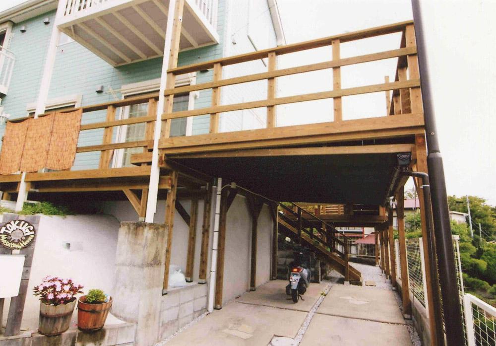 神奈川県中郡二宮町T様邸 とても広いウッドデッキで使い勝手抜群のこだわりデッキ